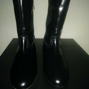 NWT H&M Genuine Leather Black Boots